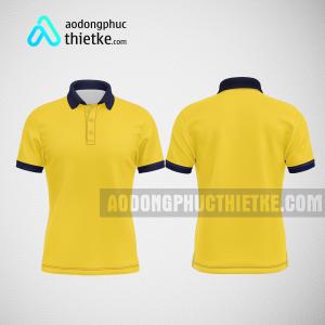 Mẫu đồng phục công ty áo thun thiết kế màu vàng DPTK4