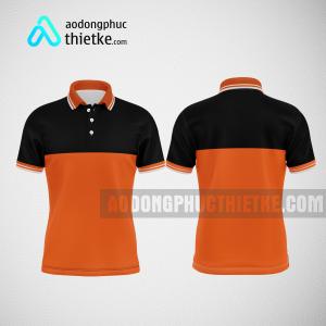 Mẫu đồng phục công ty thiết kế màu cam DPTK1