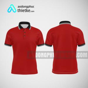 Mẫu đồng phục công ty thiết kế màu đỏ DPTK2