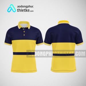 Mẫu đồng phục công ty thiết kế màu vàng tím than DPTK3